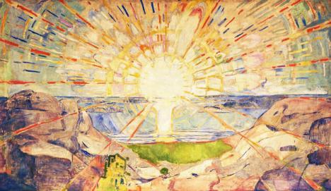 Le Soleil, Edvard Munch, 1909-1916 Huile sur toile, 162 x 205 cm. © Munch-museet
