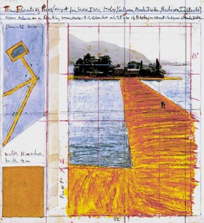 © 2016 Christo Christo, The Floating Piers, 2014. Drawing. Photo: André Grossmann