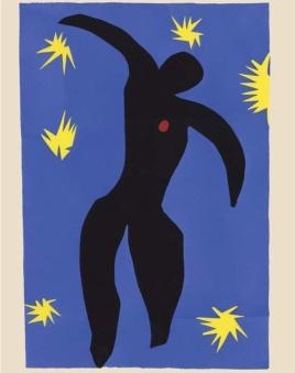 Henri Matisse Jazz – Icare (1947) Planche au pochoir d'après les gouaches et sur les découpages d'Henri Matisse. Musée Matisse, Nice