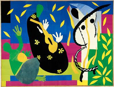 Henri Matisse, La tristesse du roi (1952) Papiers gouachés, découpés, collés et marouflés sur toile 292x386 cm, Centre Pompidou