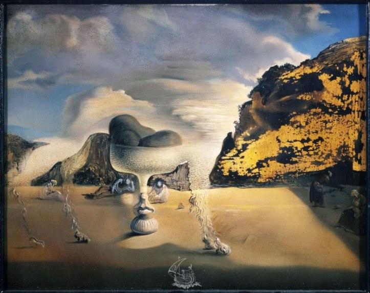 dali-afghan-invisible-avec-apparition-sur-la-plage-du-visage-de-garcia-lorca-en-forme-de-compotier-aux-trois-figures-1938