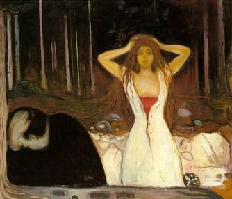 Cendres, Huile sur toile, 1894, 120,5 × 141 cm. Tableau appartenant à la frise de la vie. (C.) Musée National, Oslo