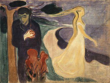 Séparation, huile sur toile, 1896. 96 × 127 cm. Tableau appartenant à la frise de la vie. (C.) Musée Munch, Oslo.