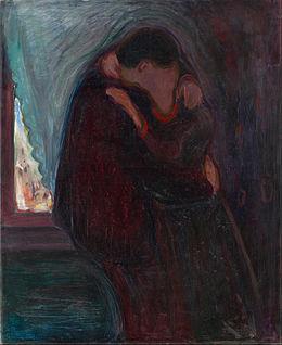 Le Baiser, huile sur toile, 1897, 99x81cm. (C.) Google Art Project