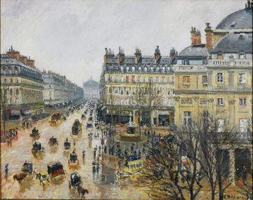 Camille Pissarro, Place du Théâtre Français, Paris, 1898, huile sur toile, 73.66 × 91.44 cm, C. The Yorck Project