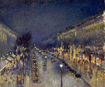 Camille Pissarro, Boulevard Montmartre, effet de nuit, 1897, huile sur toile, 53.3 x 64.8 cm, (C.) National Gallery, London