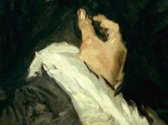 Frans Hals, Portrait d'un homme avec col à glands, détail