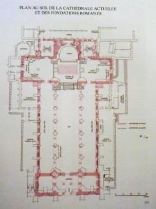 Plan au sol de la cathédrale de Strasbourg