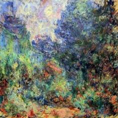 Claude Monet, La Maison de Giverny vue du jardin aux roses, huile sur toile, 1922-1924, 92 x 81 cm, (C.) Musée Marmottan