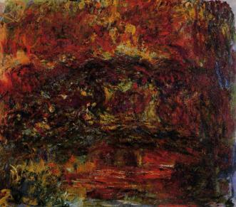 Claude Monet, le Pont Japonais, huile sur toile, 1922, 116 x 89 cm, (C.) Musée Marmottan