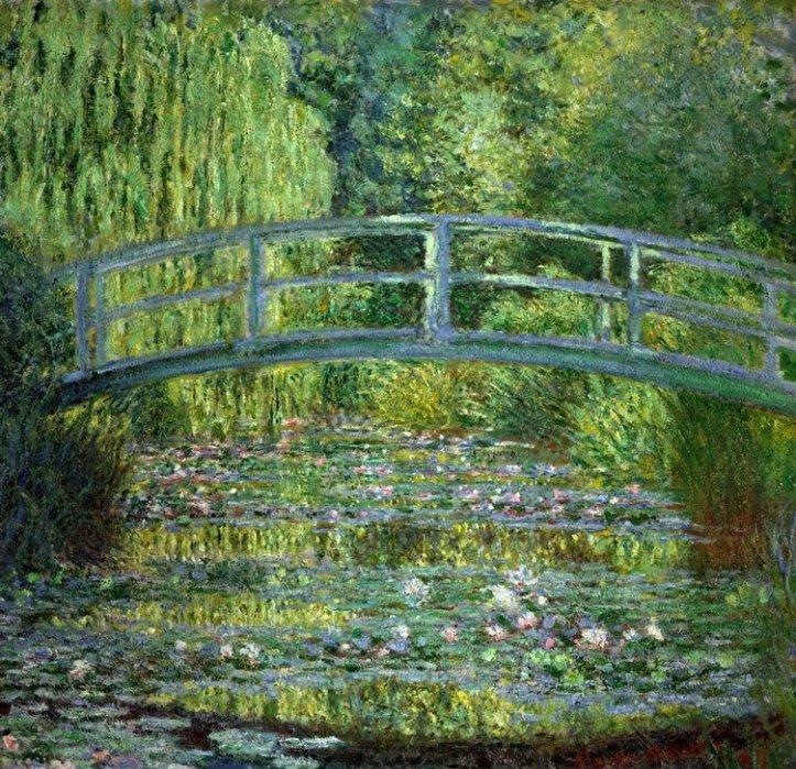 C.Monet, Seerosenteich (Harmonie verte) - Monet / Water Lily Pond, Verte / 1899 - Monet/Bassin aux nymphéas:harmonie verte