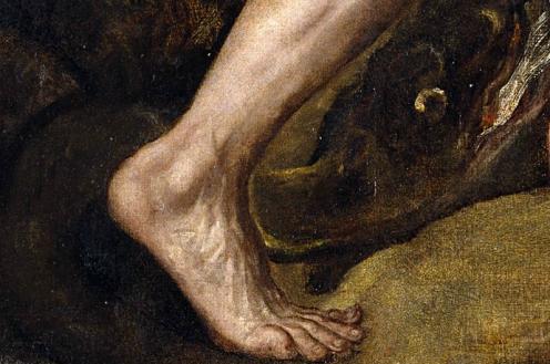 Titien, Le châtiment de Sisyphe, détail