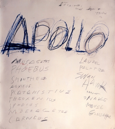 Apolon, Cy Twombly, 1975