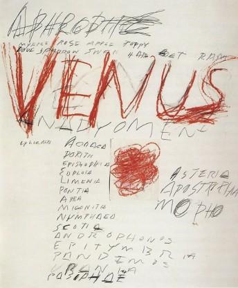 Venus, Cy Twombly, 1975