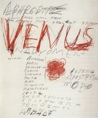 Venus, Cy Twombly, 1975