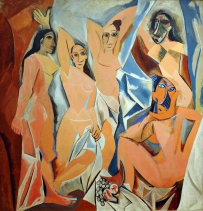 Les demoiselles d'Avignon, 1907, huile sur toile, 243.9 x 233.7 cm, © 2017 Estate of Pablo Picasso / Artists Rights Society (ARS), New York