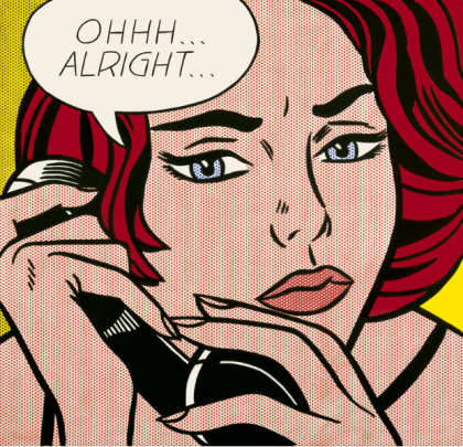Roy Lichtenstein, Ohhh...Alright..., 1964, huile sur toile, 91.4 x 96.5 cm. (C.) Roy Lichtenstein Foundation, Image Duplicator