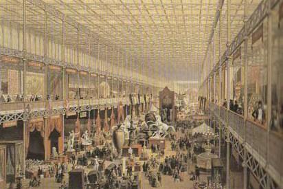 Crystal Palace, Paxton, 1851, salle d'exposition pour les nations étrangères