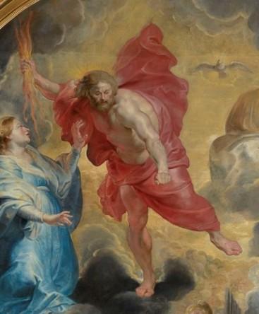 Pierre Paul Rubens, Les saints préservant le monde de la colère du Christ, détail. 1620, 5,65m x 3,65m. Photo Alain Basset, (C.) Musée des Beaux Arts de Lyon