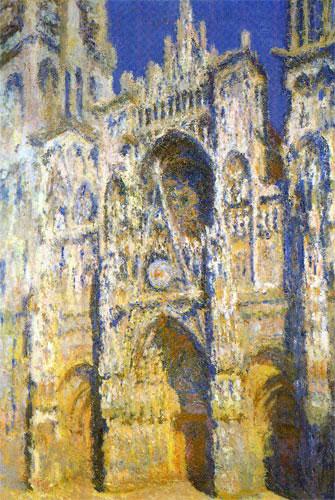 La cathédrale de Rouen, plein soleil, huile sur toile, Claude Monet, 1894. Source : Paris, Louvre, Musée du Jeu de Paume.