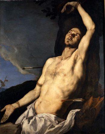 Juseppe de Ribera, Le Martyre de Saint-Sebastien, 1651, 125 x 100cm, Naples.