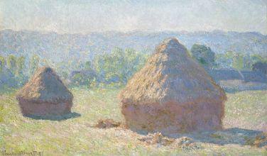 Claude Monet, Meules, fin de l'été, huile sur toile, 60 x 100,8 cm, Source et © Musée d'Orsay