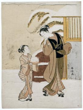 suzuki-harunobu-jeune-femme-admirant-un-lapin-des-neiges-fin-des-annees-1760