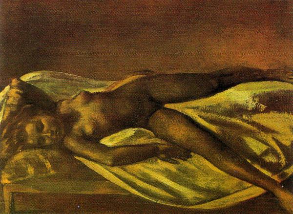 Balthus, Nu Couché, 1977, huile sur toile.