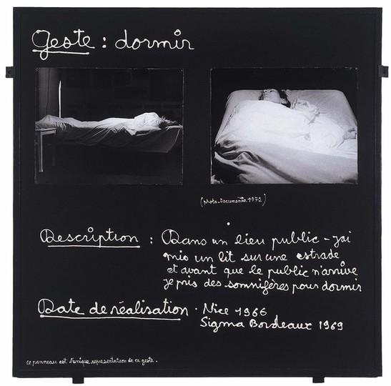 Ben, Geste : dormir, 1966-1972