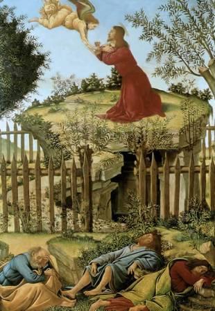 Sandro Botticelli, Le Christ au Jardin des Oliviers, 1500