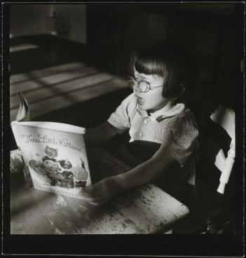Orphanage [Girl reading.]. 1947.
