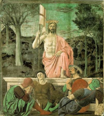 Piero della Francesca, Résurrection du Christ, v. 1460. Fresque, 225x 200 cm. Museo Civico, Sansepolcro - Italie.