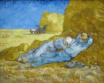 Vincent van Gogh, La méridienne ou La sieste (d'après Millet)