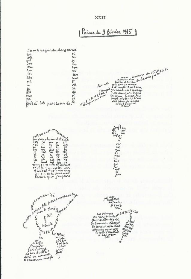 Calligrammes-poème à Lou