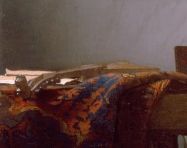 Johannes Vermeer, Le Concert, détail, la cistre