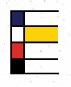 Lettre E alphabet Mondrian