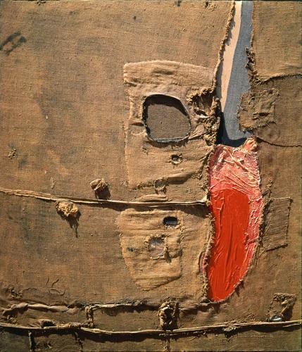 Alberto Burri, Sacco 5P, 1953