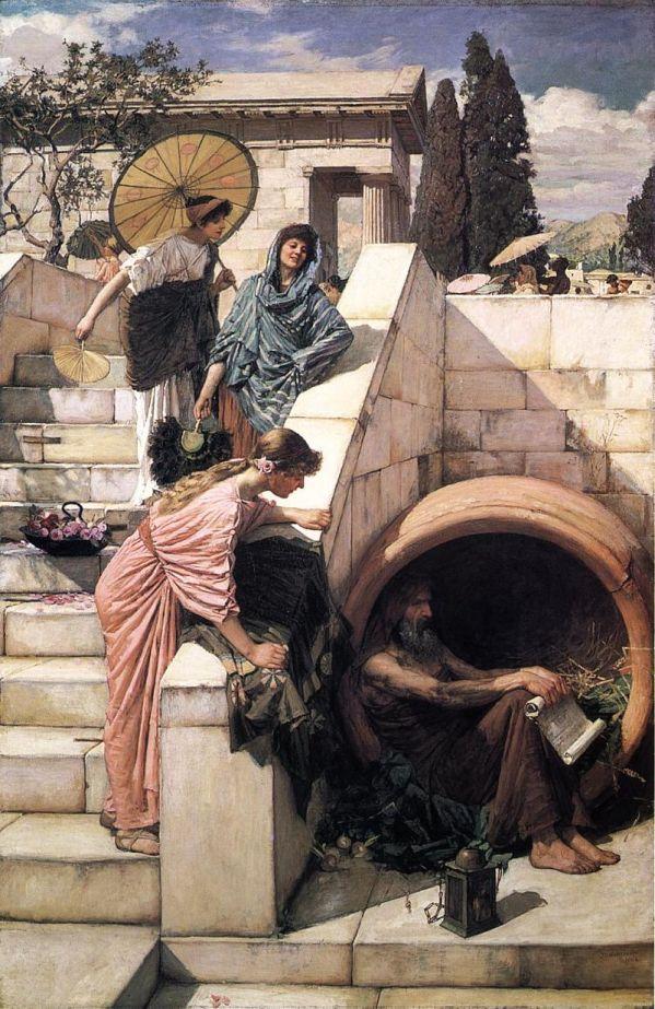 Diogène par John William Waterhouse (1882