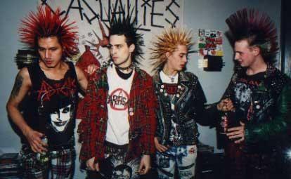 Groupe de punks - anneģes 70