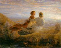 Louis Janmot, Le Poème de l'âme, Le vol de l'âme, 113 x 145, Musée des Beaux-Arts, Lyon.