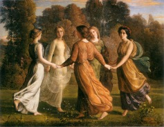 Louis Janmot, Le Poème de l'âme, Rayons de soleil, 113 x 145, Musée des Beaux-Arts, Lyon.