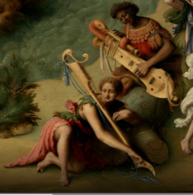 Piero Di Cosimo, Andromède libérée par Persée, 1510, détail. Les musiciens.