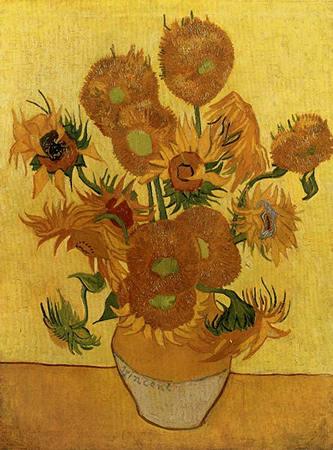 Van Gogh Vase De Tournesol Point de Croix Tableau Motif