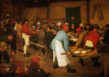 Le Repas de noces, Bruegel, 1568. Huile sur toile, 114 x 164 cm, Kunsthistorisches Museum de Vienne