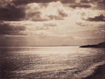 Gustave Le Gray, Mer Méditerranée - Cette - n° 18, printemps 1857. Tirage sur papier albuminé d'après un négatif sur verre au collodion. © Bibliothèque nationale de France