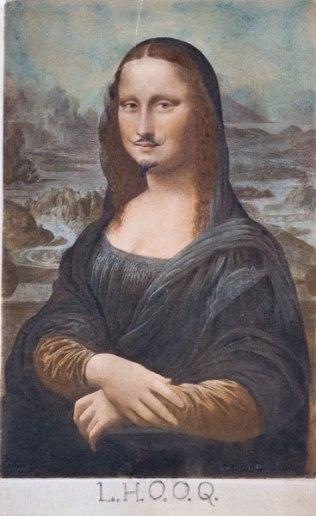 L.H.O.O.Q La Joconde moustachue - M.Duchamp