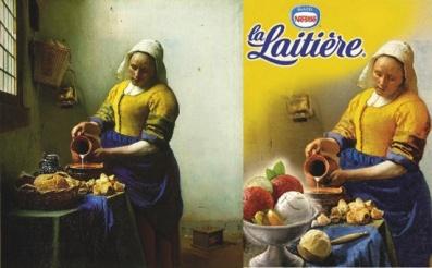 La Laitière - J.Vermeer (original + logotype)