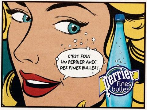 Oeuvre de Roy Lichtenstein (publicité Perrier)