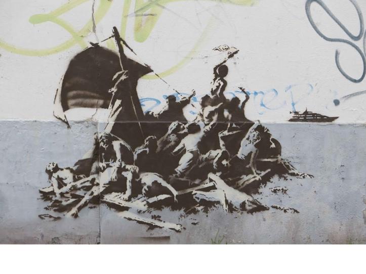 Banksy, Le radeau de la Méduse