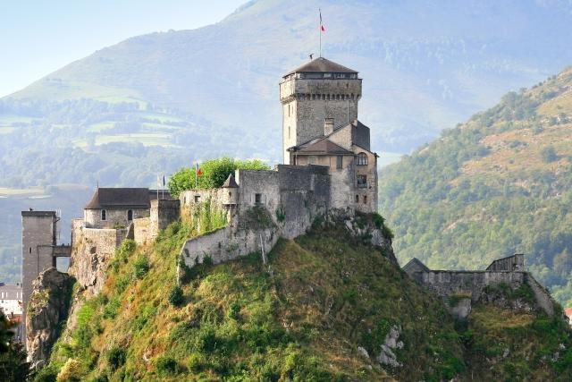 Le château de Lourdes - vue panoramique